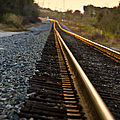 Railroad Tracks At Sundown by Carolyn Marshall