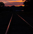 Rails Into The Rogue Sunset by Mick Anderson