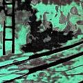 Railway - Schattenbild Siebdrucktechnik by Arte Venezia