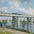 Railway Bridge At Argenteuil by Claude Monet