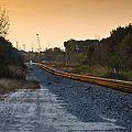 Railway Into Town by Carolyn Marshall