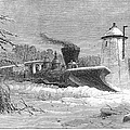 Railway Snow Plough, 1862 by Granger