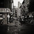 Rain - Pell Street - New York City by Vivienne Gucwa