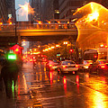 Rain In Chicago by Christopher Purcell