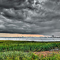 Rain Rolling In On The River by Andrew Crispi