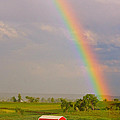 Rainbow And Red Barn by James BO Insogna