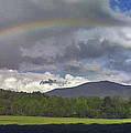 Rainbow Frames Ascutney Mountain by Nancy Griswold