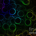 Rainbow Neon Rings by Rachel Duchesne