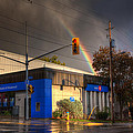Rainbow On Bank by John Herzog