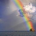 Rainbow On Birdrock- St Lucia. by Chester Williams
