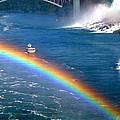 Rainbow On Niagara Falls by Diana Haronis