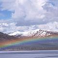 Rainbow Over A Lake by Alan Sirulnikoff