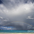 Rainbow Over Emerald Bay by Dennis Hedberg