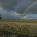 Rainbow Over Fields At Kangaroo Island by Sam Abell