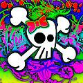 Rainbow Skull 1 Of 6 by Roseanne Jones