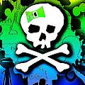 Rainbow Skull 2 Of 6 by Roseanne Jones