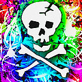 Rainbow Skull 3 Of 6 by Roseanne Jones