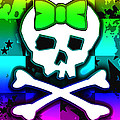 Rainbow Skull 4 Of 6 by Roseanne Jones