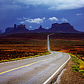 Rainclouds Over Monument Valley by Ellen Heaverlo