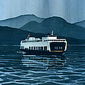 Rainy Ferry by Scott Nelson