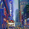 Rainy Reflections In Times Square by Li Newton