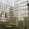 Rare Bamboo Scaffolding Used In Hong by Justin Guariglia