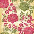 Raspberry Sorbet Floral 2 by Debbie DeWitt