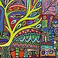 Raven Spirit Tree Totem Goddess by Sandra Silberzweig