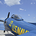 Rear View Of A F8f Bearcat Parked by Stocktrek Images