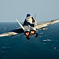 Rear View Of An Fa-18c Hornet Taking by Stocktrek Images