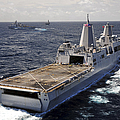 Rear View Of Uss Green Bay by Stocktrek Images