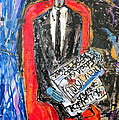Recalling The Portrait Of An Unknown Man Reading A Newspaper Chevalier X By Andre Derain by Eria Nsubuga