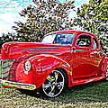 Red 1940 Ford Deluxe Coupe by Randall Thomas Stone