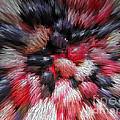Red And Black Explosion #01 by Ausra Huntington nee Paulauskaite