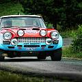 Red And Blue Fiat Abarth by Alain De Maximy