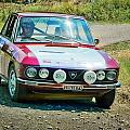 Red And White Lancia by Alain De Maximy