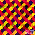 Red And Yellow Basketweave Bias by ME Kozdron