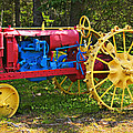Red And Yellow Tractor by Garry Gay