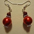 Red Ball Drop Earrings by Jenna Green