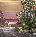 Red Barn At The Curve by Kevin Felts