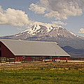 Red Barn Under Mount Shasta by Mick Anderson