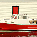 Red Boat Red Door by Winston  Wetteland