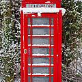 Red British Phonebox In The Snow by Richard Thomas