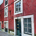 Red Building  Lisboa Portugal by Nathan Mccreery