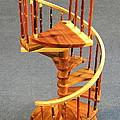 Red Cedar Rustic Spiral Stairs by Don Lorenzen