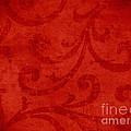 Red Crispy Oriental Style Decor For Fine Design. by Marta Mirecka