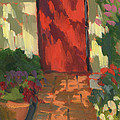 Red Door - Shadow And Light by Diane McClary
