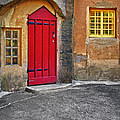 Red Door And Yellow Windows by Susan Candelario