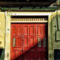 Red Door In Half Shadow by Bill Cannon