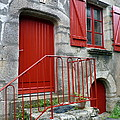 Red Door In Laroche Bernard by Carla Parris